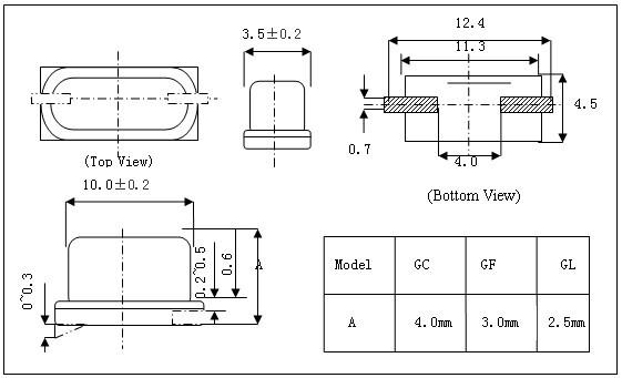 石英晶体谐振器hc-49ssmd晶振